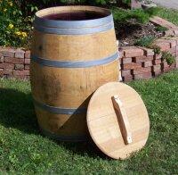 Weinfass 225 ltr. natur m. Deckel