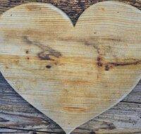Fußmatte Holz Herz
