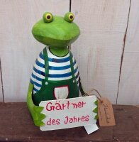 Frosch Zaunhocker Gärtner des Jahres