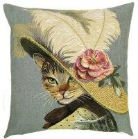 Gobelin Kissen Madame Cat