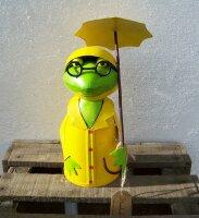 Zaunhocker Frosch mit Schirm