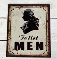 Dekoschild Toilette Herren