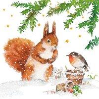 20 Servietten Eichhörnchen und Freund