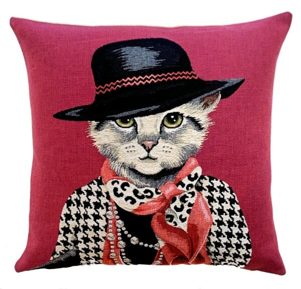 Gobelin Kissen Mademoiselle Katze