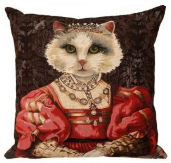 Gobelin Kissen Königliches Portrait Katze III